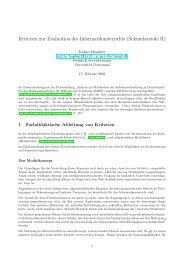 Kriterien zur Evaluation des Informatikunterrichts (Sekundarstufe II)
