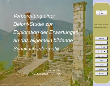 Vorbereitung einer Delphi-Studie zur Exploration der Erwartungen ...