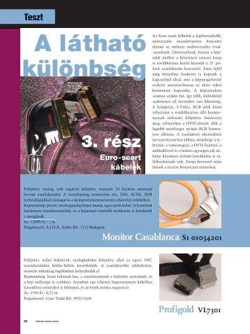 Scart kábel teszt Megjelent a Sztereó Magazin-ban. - Hama
