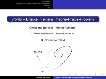 Ponto – Brücke in einem Theorie-Praxis-Problem