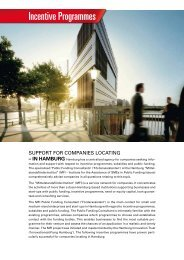 Incentive Programmes - Hamburg Business Development Corporation