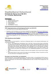 Protokoll der Sitzung vom 08.05.2012 - Hohenhorst