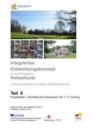 Integriertes Entwicklungskonzept Hohenhorst Teil II