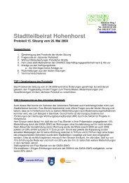 Protokoll StBei_090526 - Hohenhorst