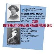 Postkarte Frauentag 2012 - Hohenhorst