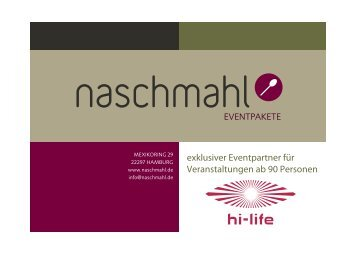 Die Eventpakete (PDF) - Hamburg Locations
