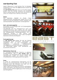 east Sporting Club (PDF) - Hamburg Locations