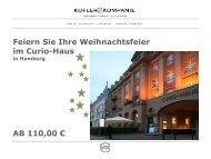 Feiern Sie Ihre Weihnachtsfeier im Curio-Haus AB 110,00 €