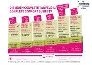 die neuen complete tarife 2013 complete comfort business
