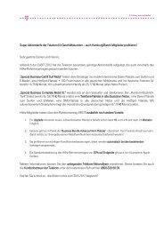 Super Aktionstarife der Telekom für ... - Hamburg@work
