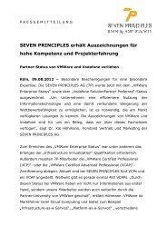 SEVEN PRINCIPLES erhält Auszeichnungen für hohe Kompetenz ...