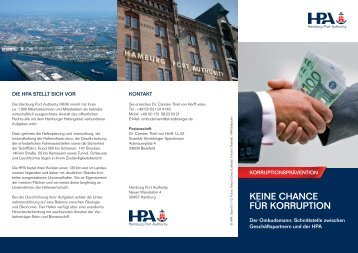 Korruptionsprävention - Hamburg Port Authority