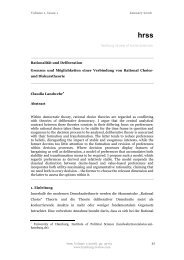 und Diskurstheorie - Hamburg Review of Social Sciences