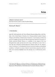 Die Zeit der (politischen) Entscheidung - Hamburg Review of Social ...