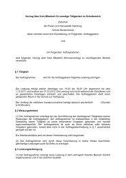 Vertrag über freie Mitarbeit für sonstige Tätigkeiten im Schulbereich ...