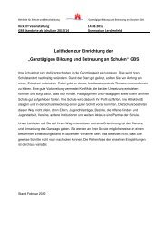 Leitfaden - Ganztägig Lernen - Hamburg