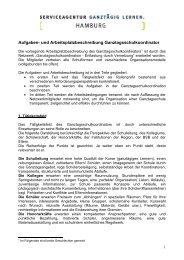 Aufgaben- und Arbeitsplatzbeschreibung Ganztagsschulkoordinator