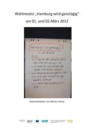 Dokumentation Wahlmodul 0312 - Ganztägig Lernen - Hamburg