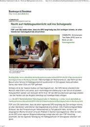Hamburgs Schulsenator lenkt ein - Recht auf Halbtagsunterricht soll ...