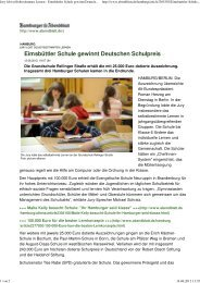 Jury lobt selbstbestimmtes Lernen - Ganztägig Lernen - Hamburg