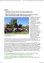 Tagesschule - Jenfelder Schule startet Ganztagesbetreuung ...