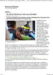 Bildungspolitik - So startet Hamburg in das neue Schuljahr ...