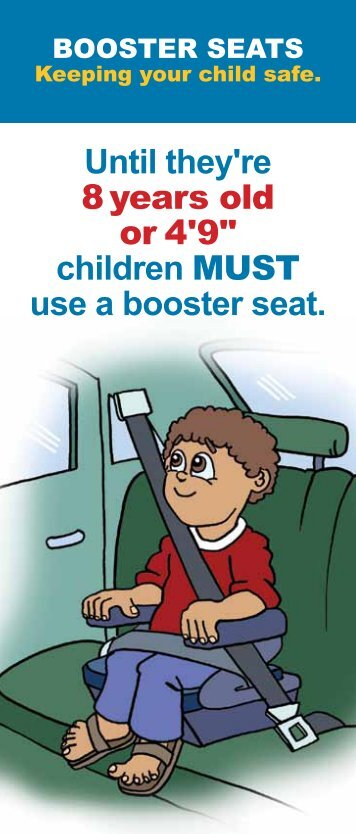 06/01/2010: Booster Seat Flyer - State of Michigan