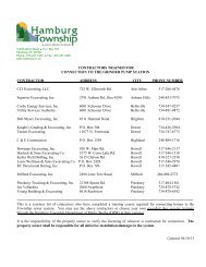 Approved Gravity Hookup Contractor List.pdf - Hamburg Township