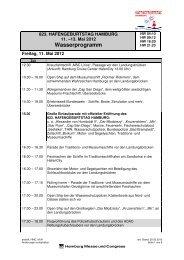 Programm Wasser Stand 120320 - Hamburg Cruise Center