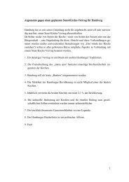 Argumente gegen einen Staat-Kirche-Vertrag für Hamburg