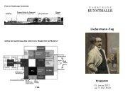 Programm Liebermann-Tag - Hamburger Kunsthalle