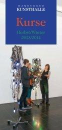 Kursheft H-W_2013_20.#17A40.qxd - Hamburger Kunsthalle