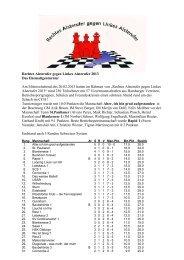 Ehemaligenturnier 13 - beim Hamburger Schachverband
