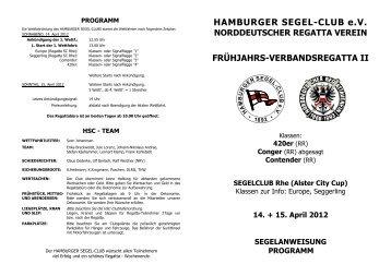 HAMBURGER SEGEL CLUB e.V. - HSC