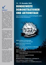 bundesweite demonstrationen und aktionstage - Hamburger Forum ...
