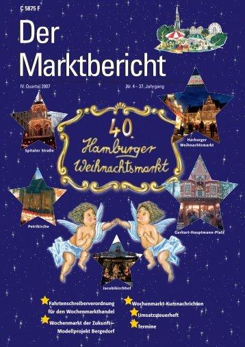Marktbericht IV. Quartal 2007 - HH Wochenmärkte