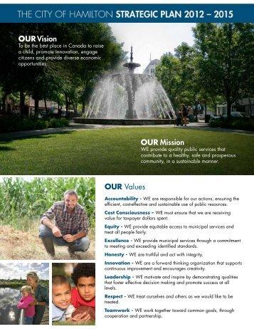 Strategic Plan Info Sheet - City of Hamilton