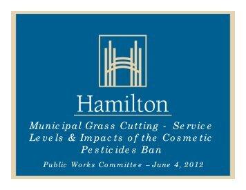 presentation - City of Hamilton