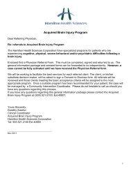 Referral Package - Hamilton Health Sciences