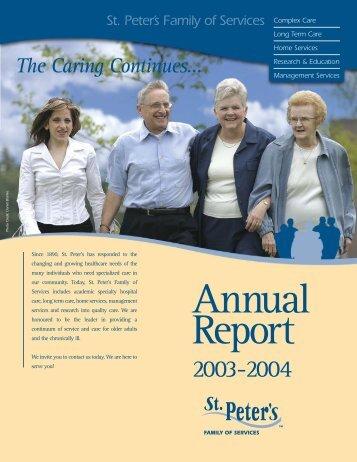 St.Peters Annual Report 2003 (OP) - Hamilton Health Sciences