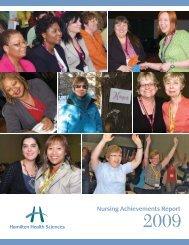Nursing Achievements Report 2009 - Hamilton Health Sciences