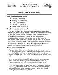 Inhaled steroid medication - Hamilton Health Sciences
