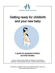 Getting ready for childbirth and your new baby - Hamilton Health ...