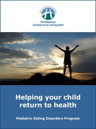 Pediatric Eating Disorder Program; Helping your child return to health