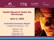Event Evaluation - Hamilton Health Sciences