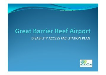 DISABILITY ACCESS FACILITATION PLAN - Hamilton Island