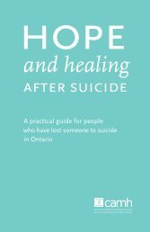 Hope and healing after suicide - CAMH Knowledge Exchange ...