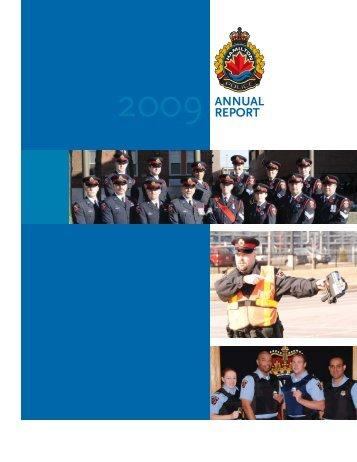 2009 Annual Report - Hamilton Police Services