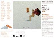 GUIDE DU VISITEUR 03B FRAGILE - Hamish Morrison Galerie