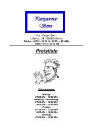 Partyservice (PDF) - Hamm-Mitte.de